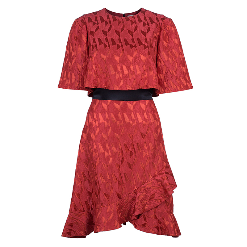 Prabal Gurung Red Short Sleeve Dress M