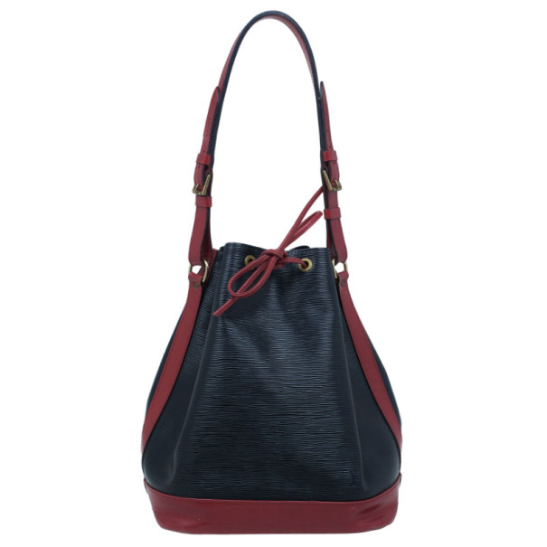Louis Vuitton Black and Red Epi leather Noe