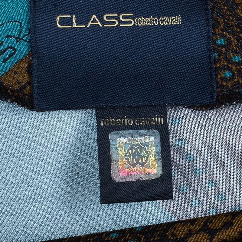 Class by Roberto Cavalli Multicolor Printed Top L