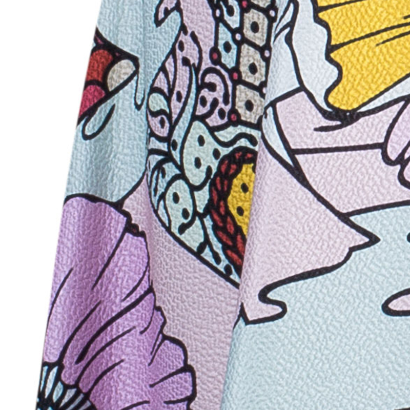 Mary Katrantzou Multicolor Graphic Print Dress M