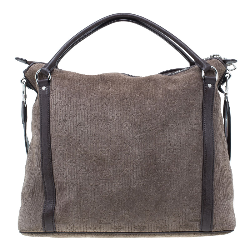 Louis Vuitton Brown Monogram Antheia Suede Ixia MM Bag
