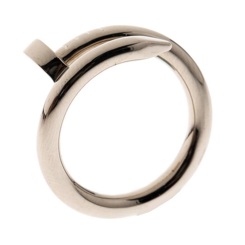 Купить со скидкой Cartier Juste Un Clou 18k White Gold Ring Size 50