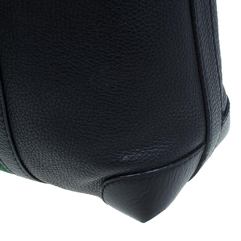 Gucci Black Leather Medium Vintage Web Detail Hobo Bag
