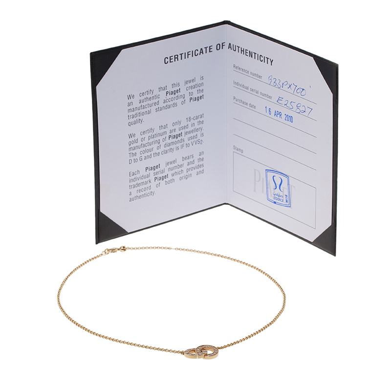 Piaget Possession Toi & Moi Diamond Yellow Gold Pendant Necklace