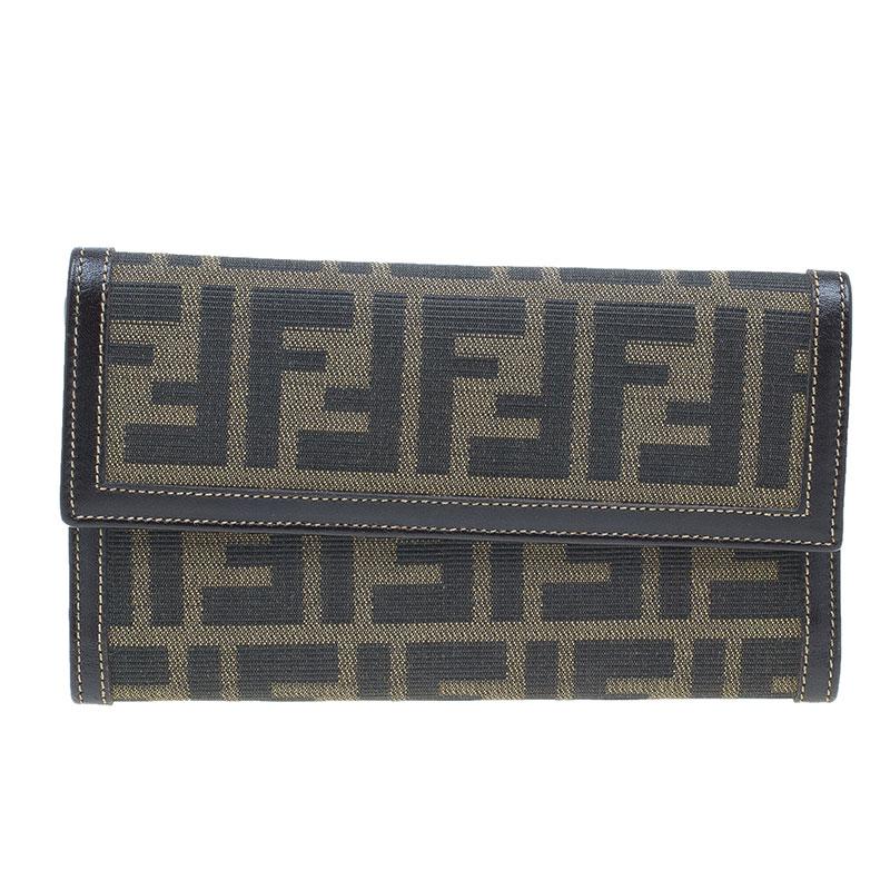 Fendi Zucca Canvas Continental Wallet