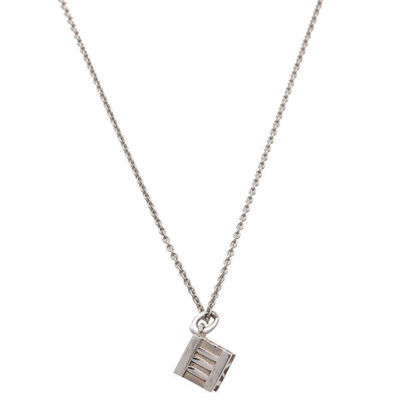 Tiffany & Co. Atlas Silver Pendant Necklace