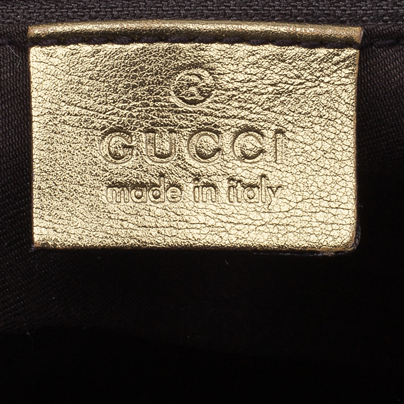 Gucci Metallic Monogram Crystal Medium Abbey Tote