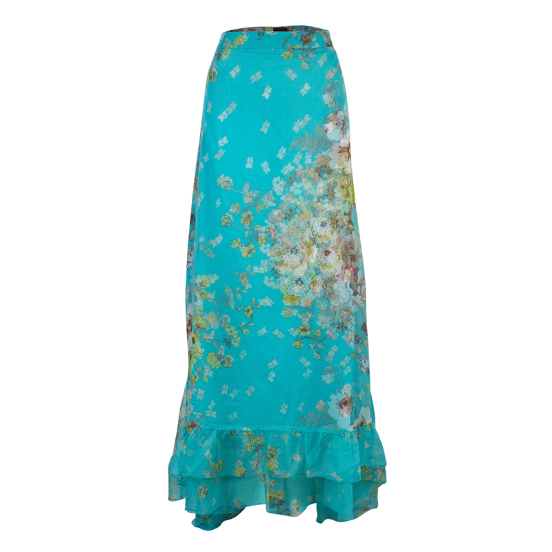 Kenzo Floral Print Maxi Skirt M