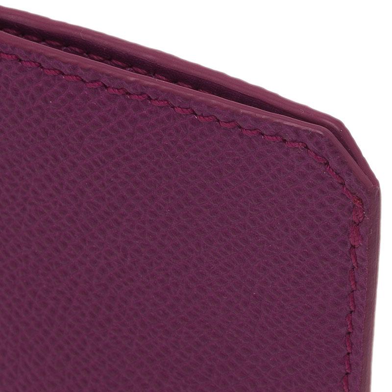Burberry Magenta Leather Carlington iPhone Case