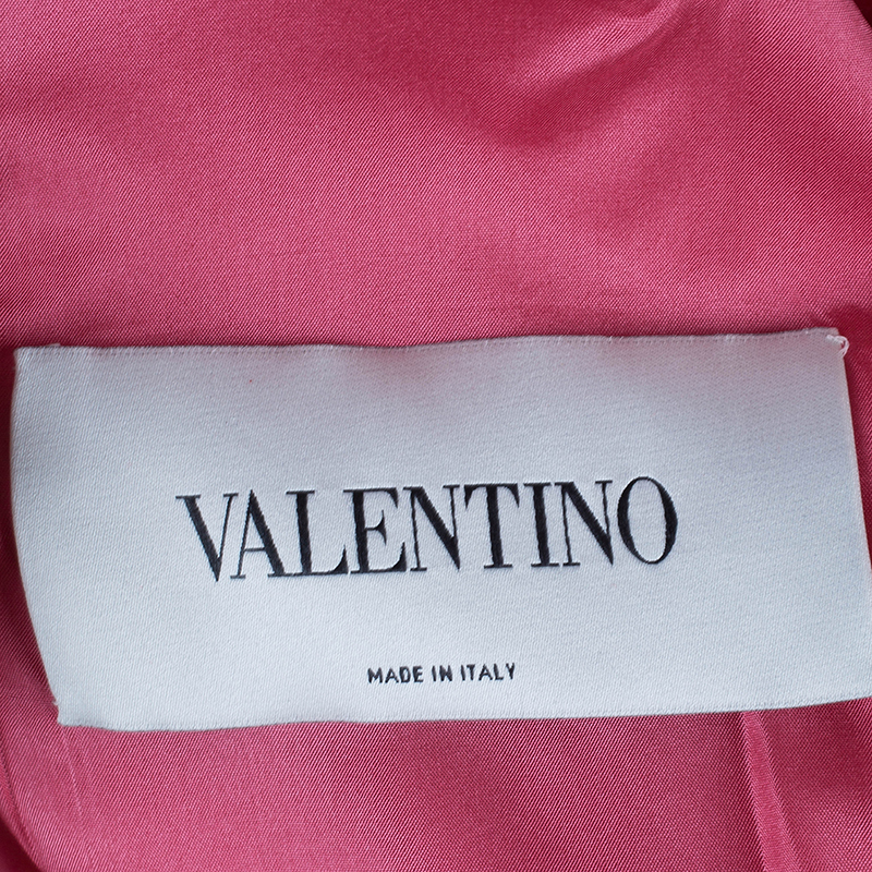 Valentino Pink Floral Embellished Cutout Dress S