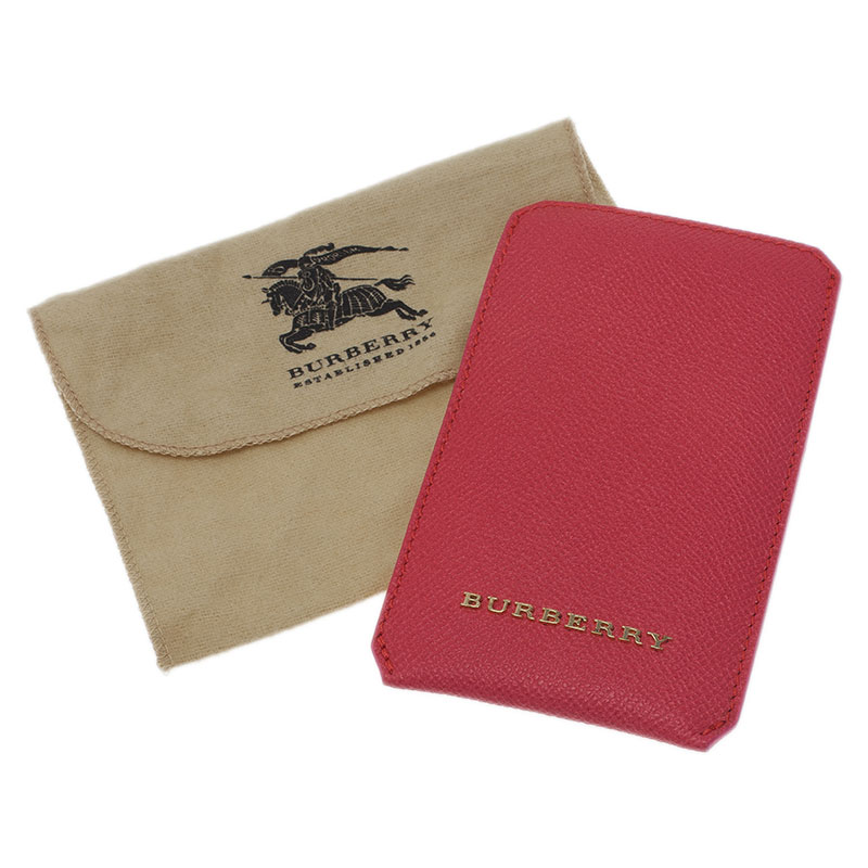 Burberry Pink Leather Carlington iPhone Case