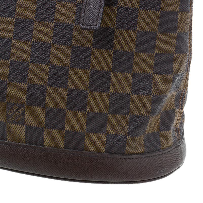 Louis Vuitton Damier Ebene Canvas Marais Bucket Bag w/Accessories Pochette