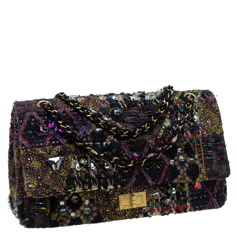 Chanel Multicolor Lesage Tweed Jewel Encrusted 2 55