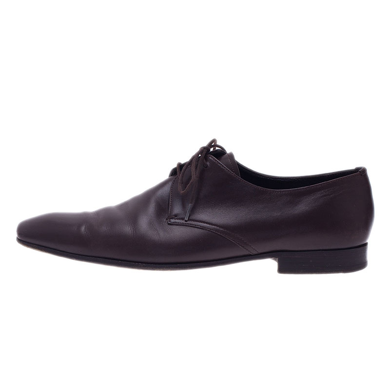 Prada Brown Leather Oxfords Size 43