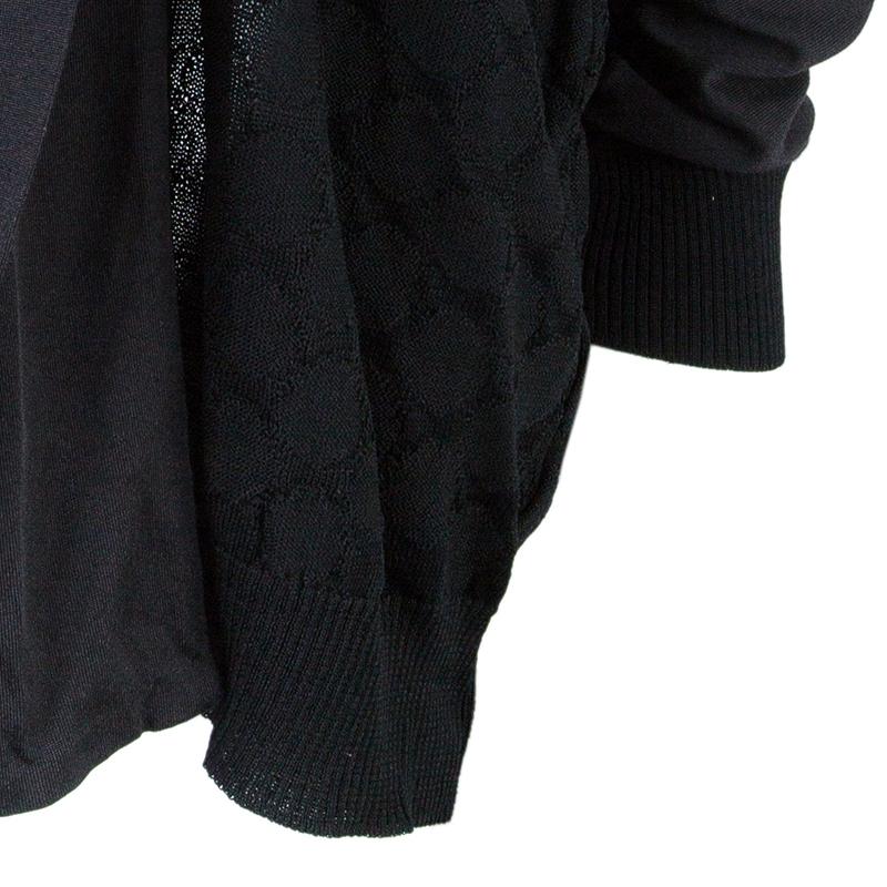 Kenzo Black Textured Cardigan S