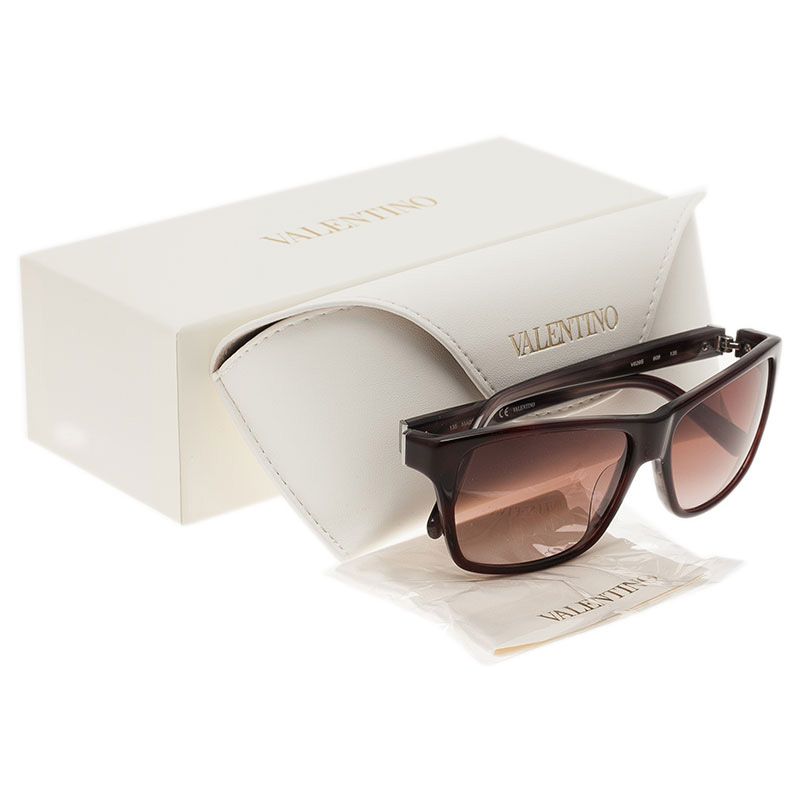 Valentino Red V629S Square Sunglasses