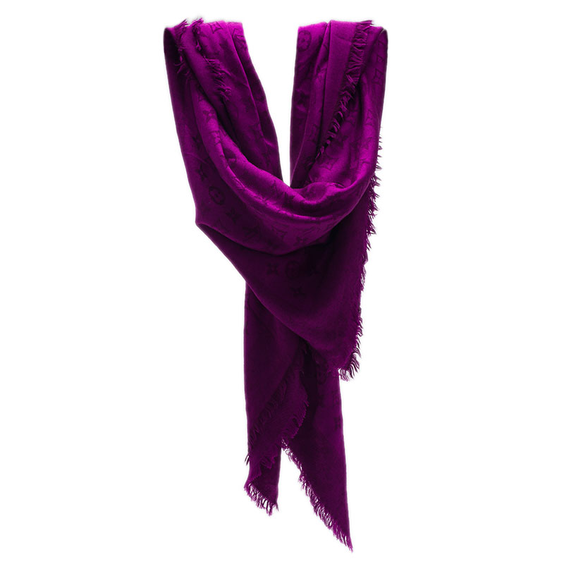 Louis Vuitton Purple Monogram Scarf
