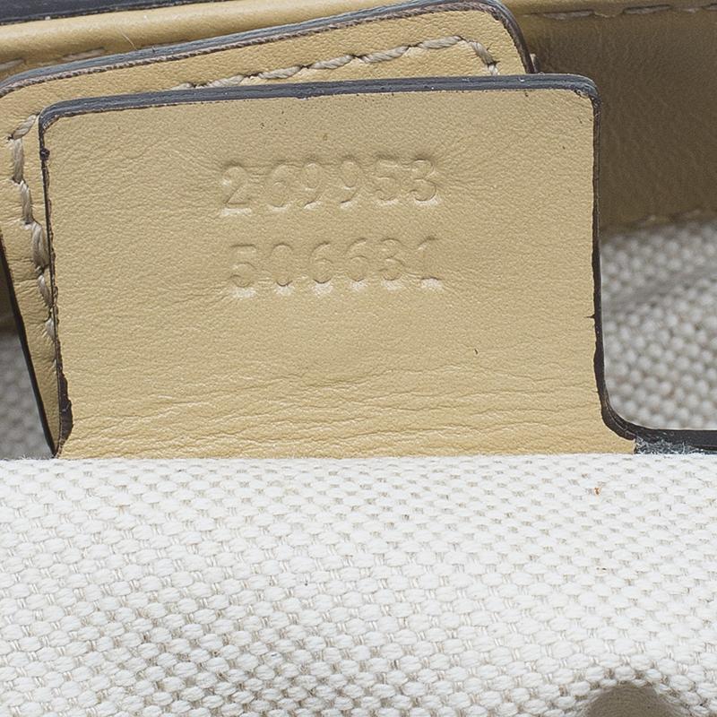 Gucci Beige Canvas Medium Scarlett Stud Interlocking G Tote