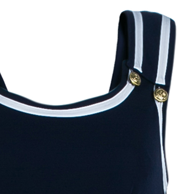 Philosophy di Alberta Ferretti Navy Sailor Jumpsuit M