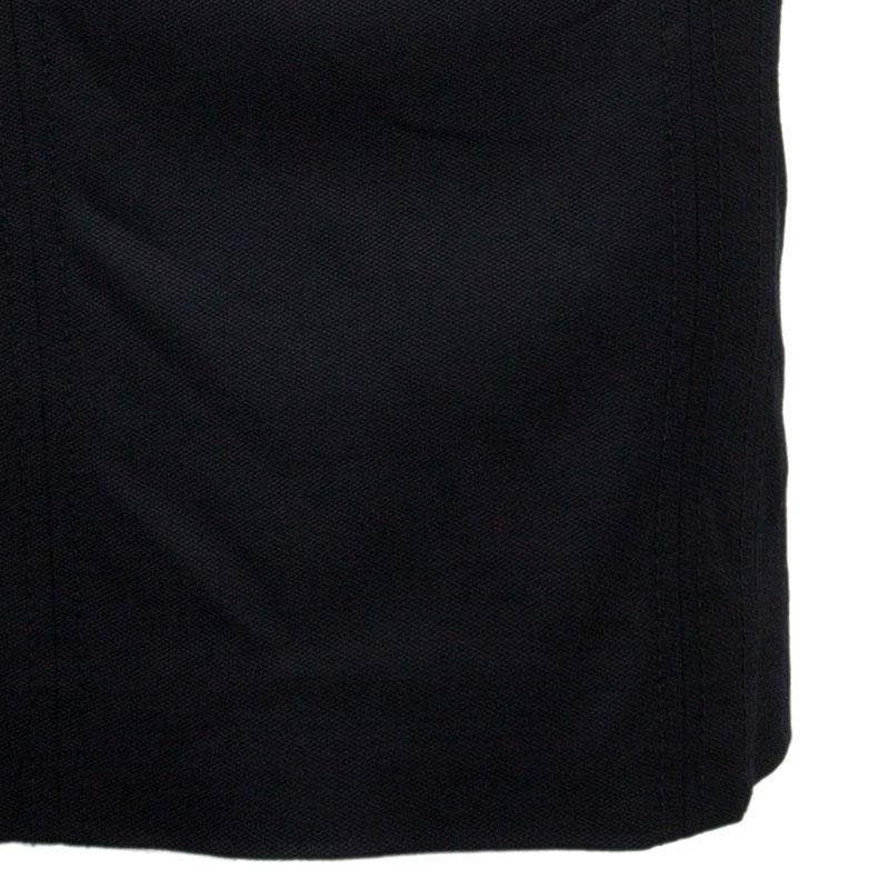Dolce and Gabbana Black Sleeveless Leopard Print Inset Dress M