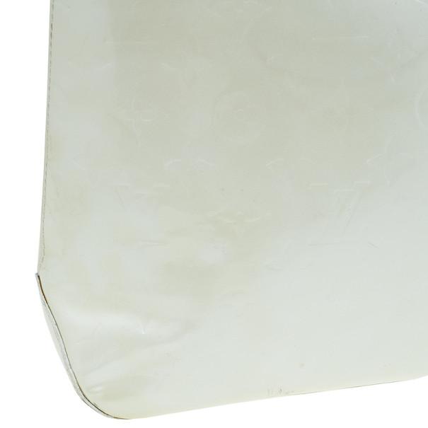 Louis Vuitton White Monogram Vernis Brentwood Tote