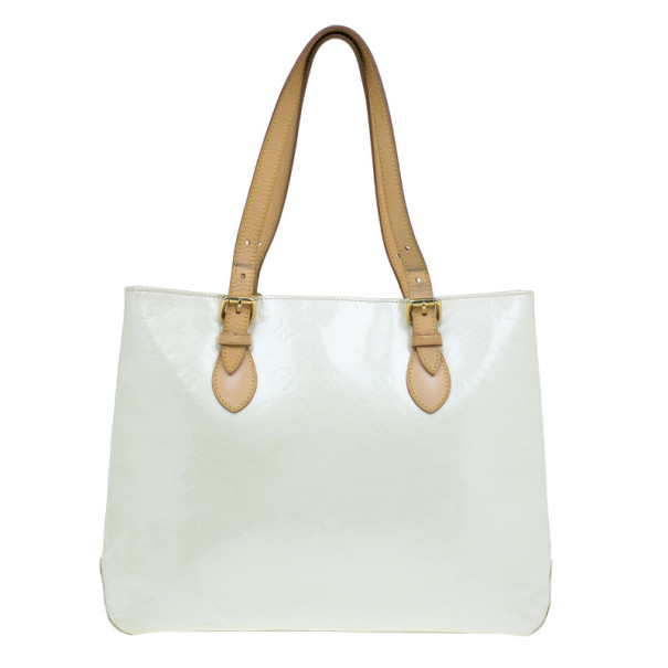 Louis Vuitton White Monogram Vernis Brentwood Tote