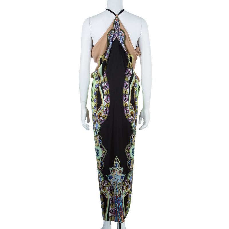 Etro Multicolor Silk Maxi Dress S