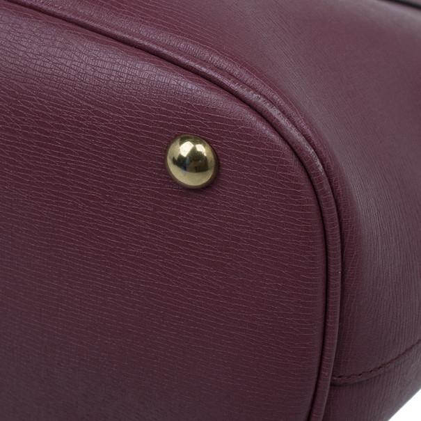 Gucci Purple Leather Medium Bright Bit Tote