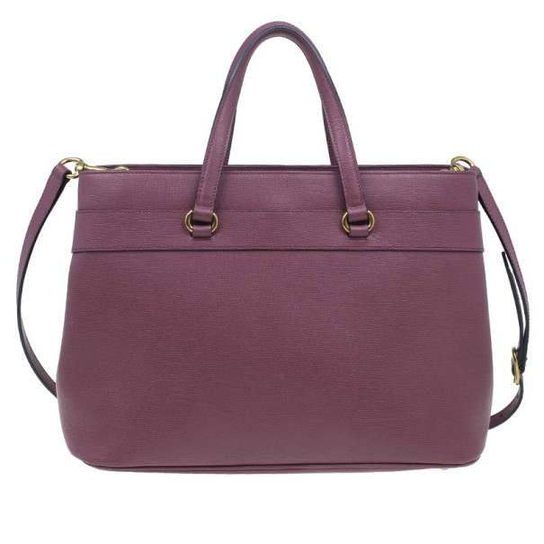 Gucci Purple Leather Medium Bright Bit Tote