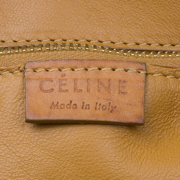 Celine Light Brown Leather Front Flap Tote