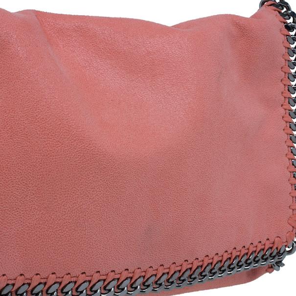Stella McCartney Peach Falabella Shaggy Deer Messenger Bag