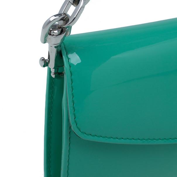Jimmy Choo Turquoise Patent Riane Clutch
