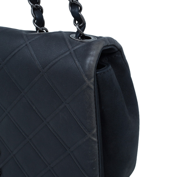Chanel Black CC Lambskin Quilted Flap Shoulder Bag