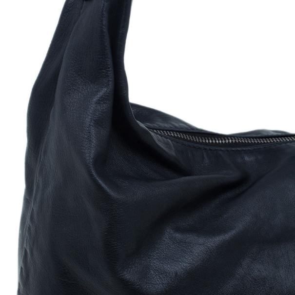 Gucci Metallic Black Leather Small Galaxy Hobo