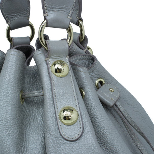 Mulberry Grey Daria Leather Drawstring Tote