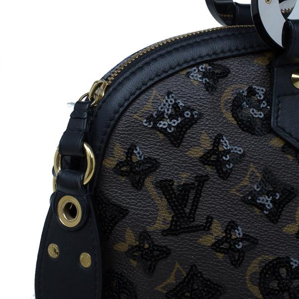 Louis Vuitton Black Noir Monogram Sequins Eclipse Alma