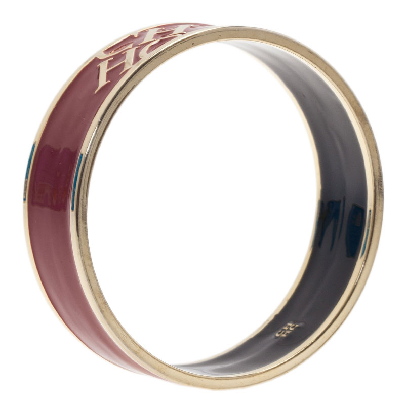 Carolina Herrera CH Red Bangle Bracelet
