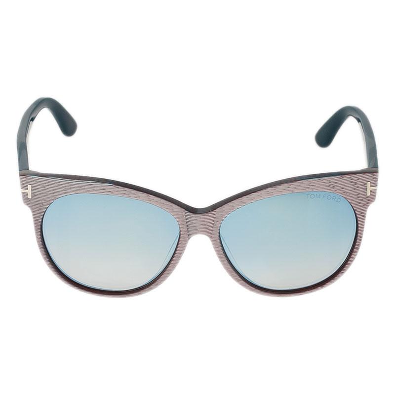 Tom Ford Purple Saskia Cat Eye Sunglasses