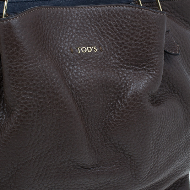 Tod's Brown Leather Medium Flower Tote