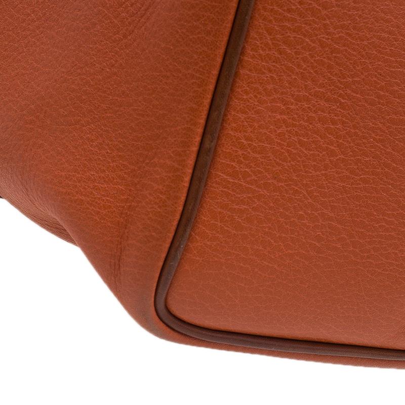Mulberry Orange Matt Glove Leather Judy Tote Bag