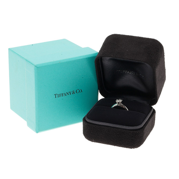Tiffany & Co. Solitaire 0.54ct G VS1 Diamond Platinum Ring Size 50