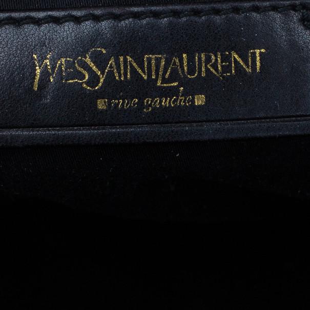 Saint Laurent Paris Green Patent Large Muse Tote
