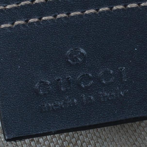 Gucci Monogram Canvas GG Supreme Flat Messenger Bag