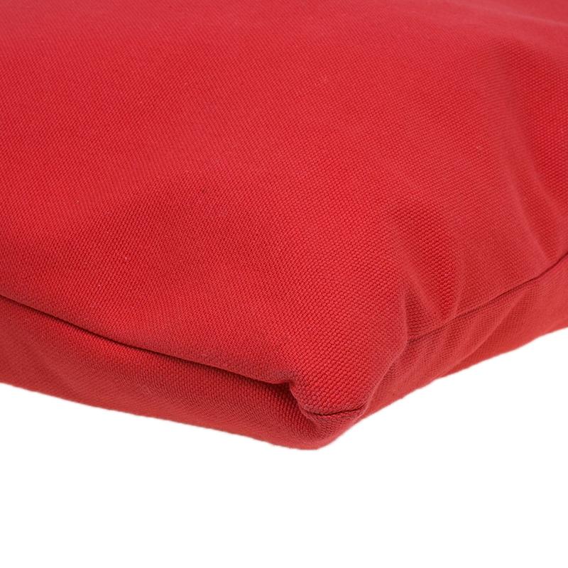 Dolce and Gabbana Red Canvas Medium Shopper Tote Bag