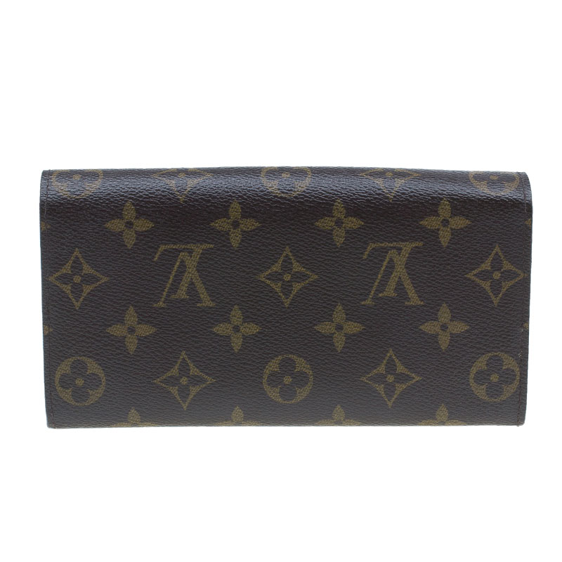 Louis Vuitton Monogram Coated Canvas Sarah Wallet