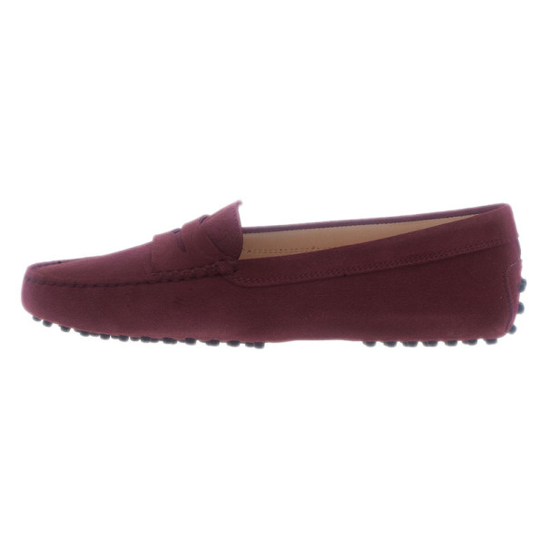 Tod's Burgundy Suede Penny Loafers Size 39