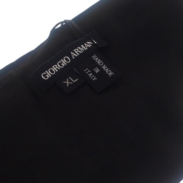 Giorgio Armani Blue Silk Cummerbund Size XL