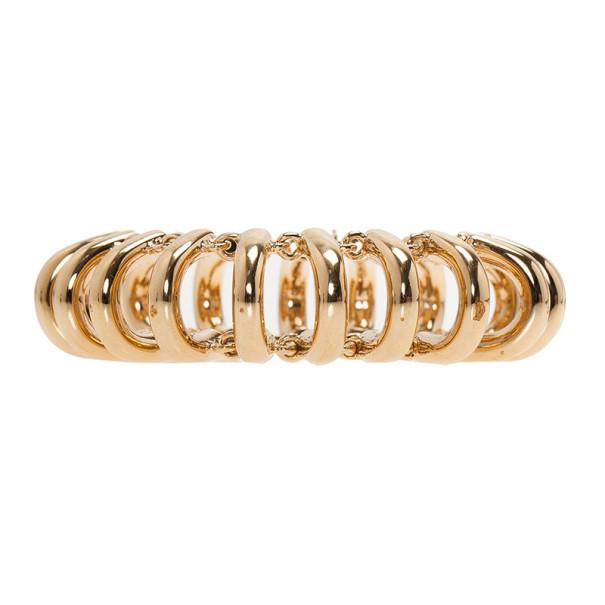 Balenciaga Gold-Tone Chain Track Bracelet 18CM