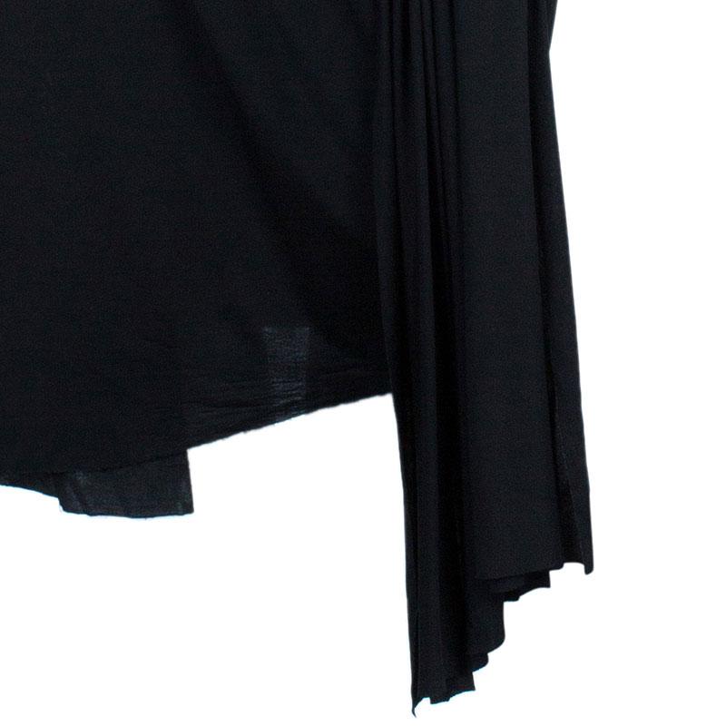 Alexander Wang Black Draped Neck Jersey Maxi Dress S