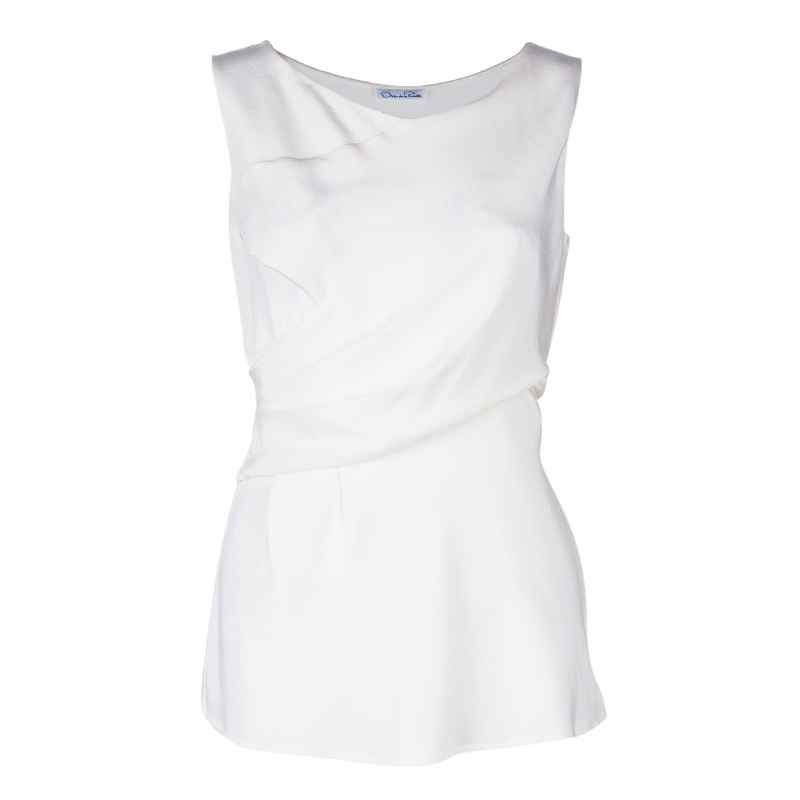 Oscar de la Renta Off-white Sleeveless Top M